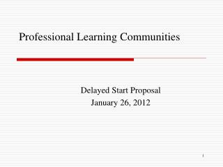 Professional Learning Communities