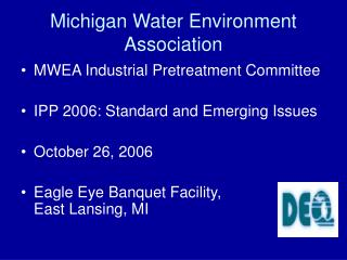 Michigan Water Environment Association