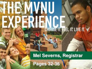 Mel Severns, Registrar Pages 32-36