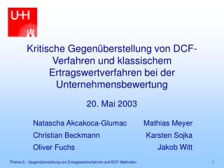 20. Mai 2003