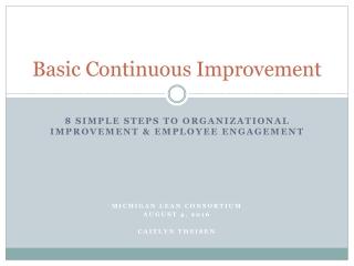 Basic Continuous Improvement
