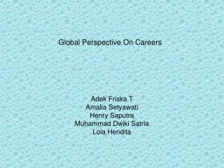 Global Perspective On Careers