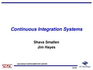 Continuous Integration Systems