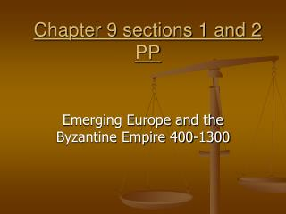 Chapter 9 sections 1 and 2 PP