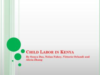 Child Labor in Kenya