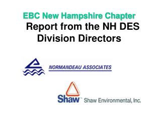 EBC New Hampshire Chapter  Report from the NH DES Division Directors
