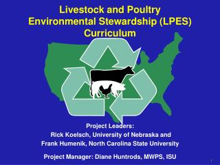 Livestock and Poultry  Environmental Stewardship (LPES) Curriculum