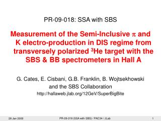 PR-09-018: SSA with SBS