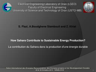 How Sahara Contribute to Sustainable Energy Production?