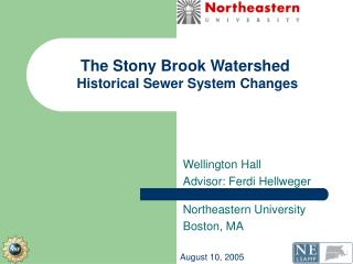 The Stony Brook Watershed Historical Sewer System Changes