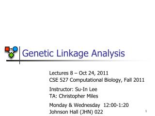 Genetic Linkage Analysis