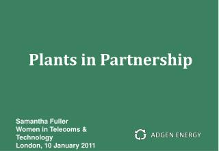 Plants in Partnership
