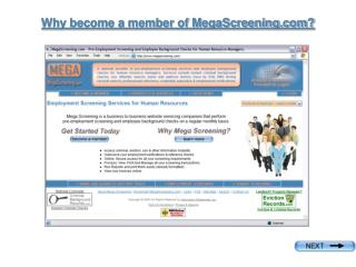 Why become a member of MegaScreening?