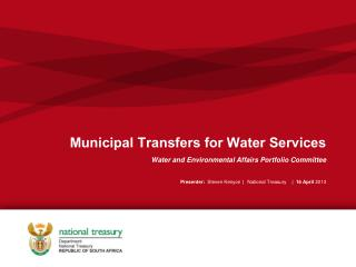 Municipal Transfers for Water Services