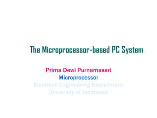 The Microprocessor-based PC System