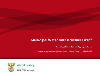 Municipal Water Infrastructure Grant