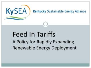 Feed In Tariffs A Policy for Rapidly Expanding  Renewable Energy Deployment