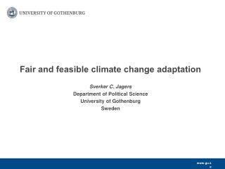 Fair and feasible climate change adaptation