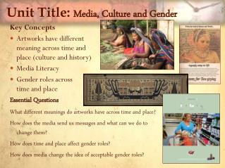Unit Title:  Media, Culture and Gender