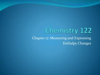 Chemistry 122