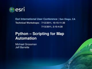 Python – Scripting for Map  Automation