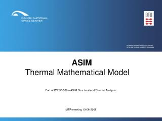ASIM Thermal Mathematical Model