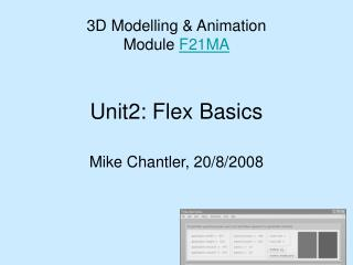 Unit2: Flex Basics