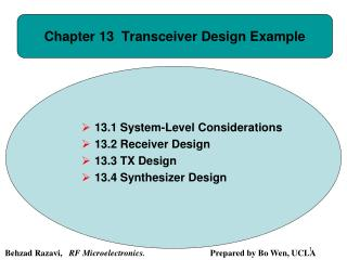 Chapter 13  Transceiver Design Example