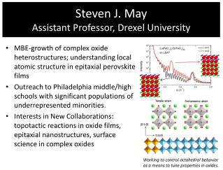 Steven J. May Assistant Professor, Drexel University