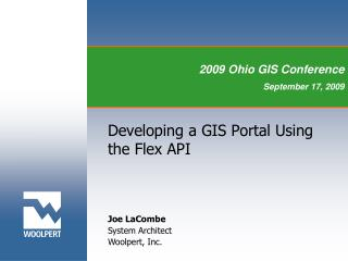 Developing a GIS Portal Using the Flex API