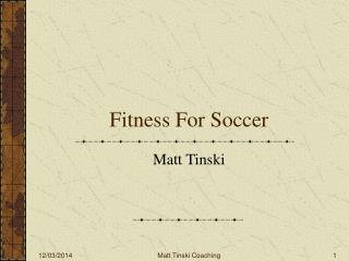 Fitness For Soccer