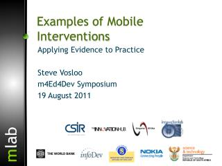 Examples of Mobile  Interventions