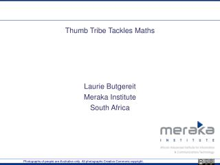 Thumb Tribe Tackles Maths