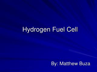 Hydrogen Fuel Cell
