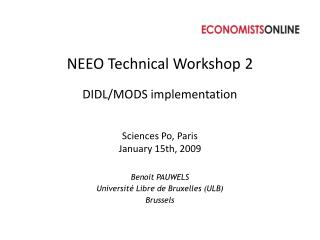 NEEO Technical Workshop 2 DIDL/MODS  implementation
