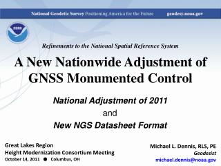 Refinements to the National Spatial Reference System