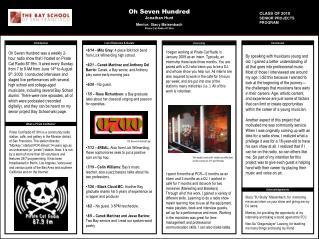 Oh Seven Hundred Jonathan Hunt Mentor: Stacy Maisenbach Pirate Cat Radio 87.9fm