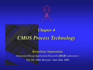 Chapter 4 CMOS Process Technology