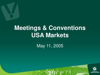 Meetings & Conventions USA Markets