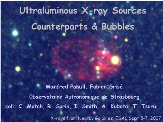 Ultraluminous X-ray Sources Counterparts & Bubbles
