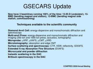 GSECARS Update