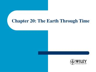 Chapter 20: The Earth Through Time