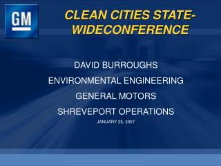 CLEAN CITIES STATE-WIDECONFERENCE