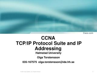CCNA    TCP/IP Protocol Suite and IP Addressing
