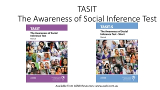 TASIT The Awareness of Social Inference Test