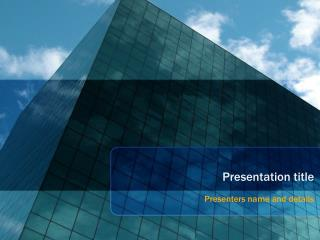 Glass Building Powerpoint Template