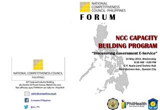 14 May 2014, Wednesday 8:30 AM - 4:00 PM U.P. Ayala Land Techno Hub Don Mariano Ave., Quezon City