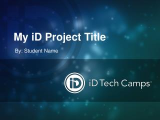 My iD Project Title