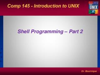 Shell Programming – Part 2