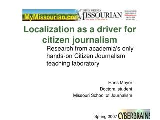 Localization as a driver for citizen journalism